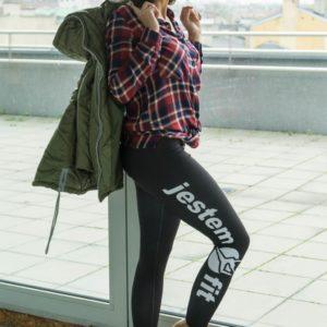 legginsy fitness czarne