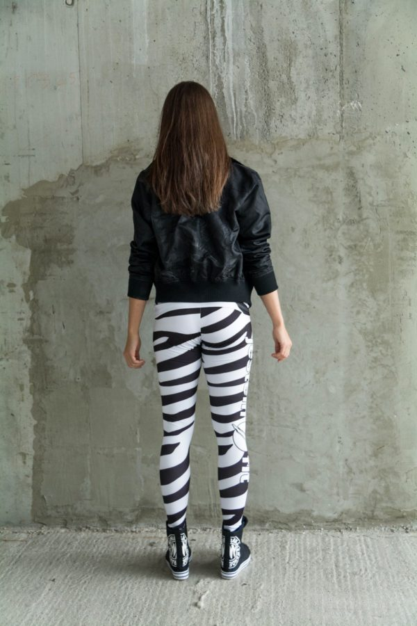 legginsy zebra fitness
