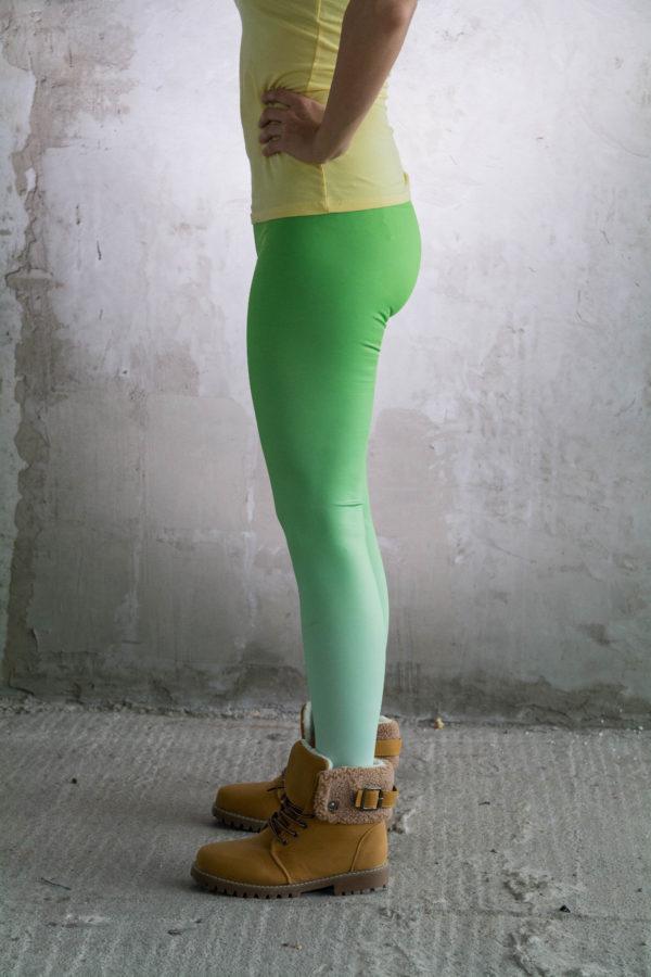 legginsy fitness zielone