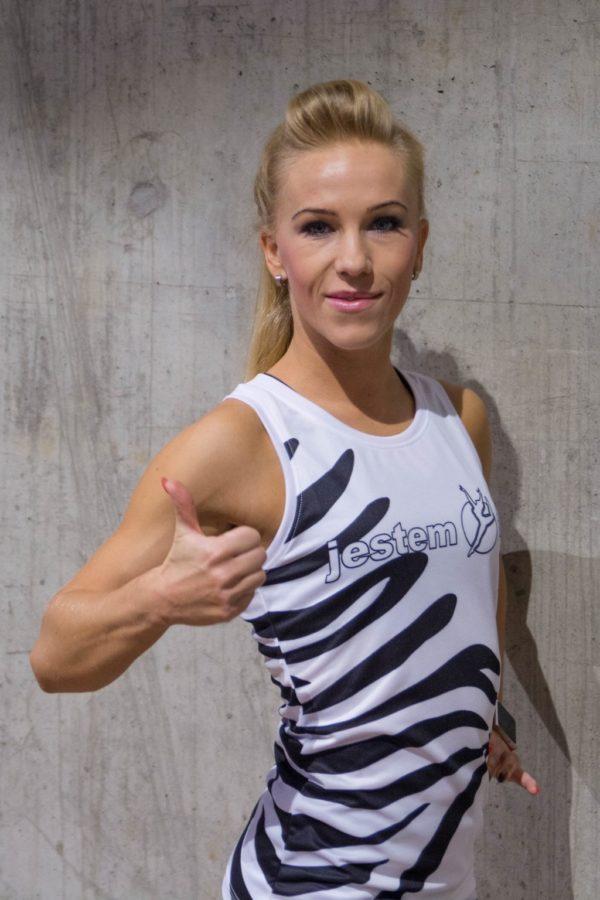tank top fitness zebra